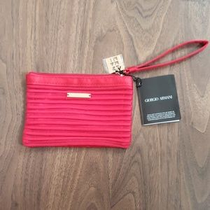 Giorgio Armani Beauty Red Makeup Bag